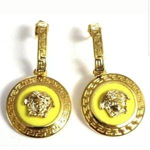 Versace RARE Medusa Yellow gold Earrings